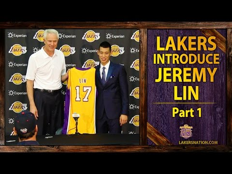 lakers - Jeremy Lin's Lakers introductory press conference. GM Mitch Kupchak reveals this is the third time the Lakers have went after the young point guard. Join the...