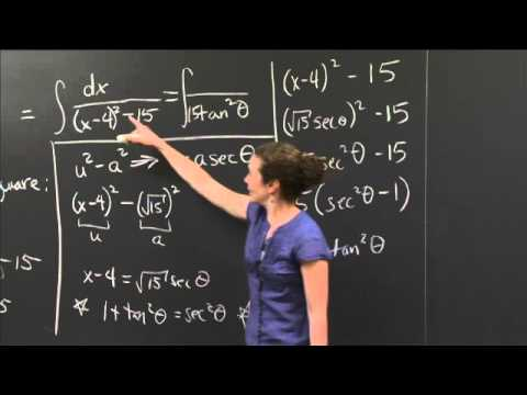 Integration by Completing the Square | MIT 18.01SC Single Variable Calculus, Fall 2010