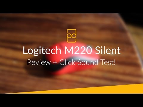 Logitech M220 Silent Mouse - Review + Click Sound Test!