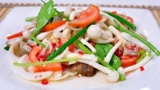 [Thai Food] Spicy Mixed Mushroom (Yum Hed Ruam)