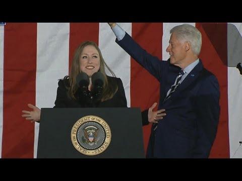 Bill and Chelsea Clinton join Hillary at Pennsylvania rally