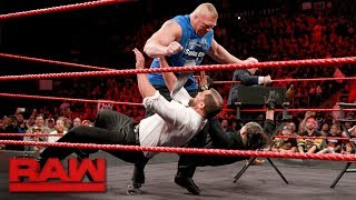 "Video Brock Lesnar wreaks havoc on ""Miz TV"": Raw, Aug. 7, 2017 MP3, 3GP, MP4, WEBM, AVI, FLV Juli 2018"