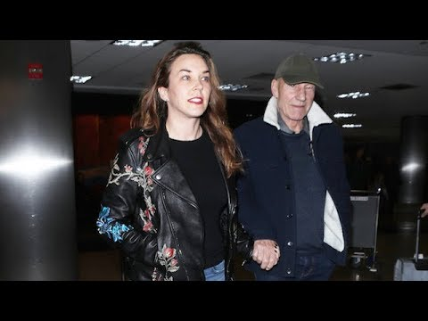 Patrick Stewart And His MUCH Younger Wife Sunny Ozell Look So In Love At LAX
