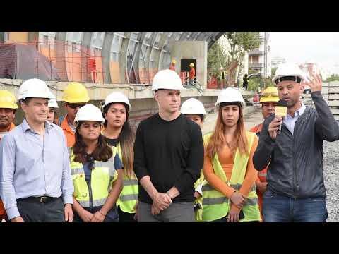 """Rodríguez Larreta y Dietrich recorrieron la futura estación Belgrano C: """"Es un beneficio enorme para los vecinos"""""""