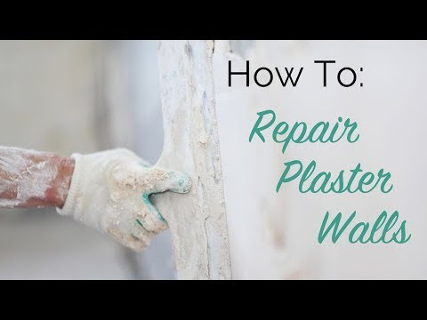 plaster repair - http://www.thecraftsmanblog.com Follow this simple process to save your historic home's original plaster walls. For the repair we used Big Wally's Plaster Ma...