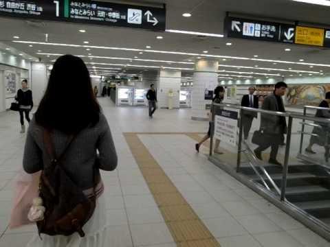 Yokohama Toyoko Line Ticket Gates to Platform 100313
