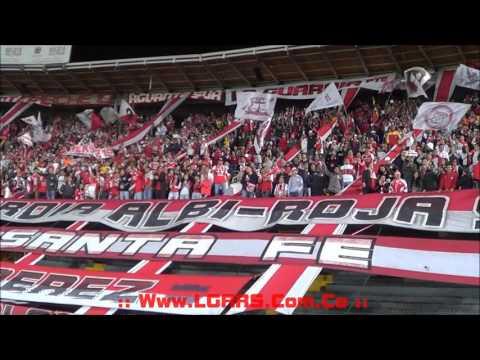 COPA ÁGUILA 2015 - Semi Final Partido Vuelta - Ind Santa Fe Vs Once Caldas - - La Guardia Albi Roja Sur - Independiente Santa Fe