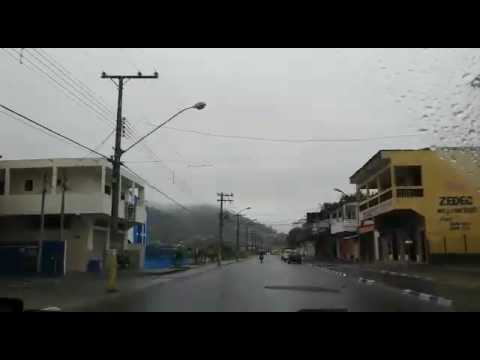 Chegando em Juquia com chuva