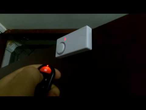 Wireless Window Door Security Alarm Alertor Warner Remote Control  Gearbest.com