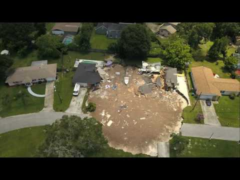 Florida Sinkhole That Swallowed Two Homes Stops Growing