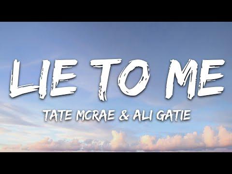 Tate McRae x Ali Gatie - lie to me (Lyrics)