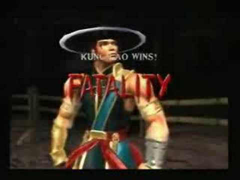Fatality - A demonstration of all the fatalities from Mortal Kombat Deadly Alliance. (special thanx to mortalkombatwarehouse.com)