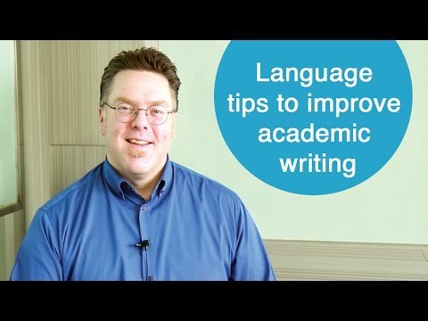 Language tips to improve academic writing