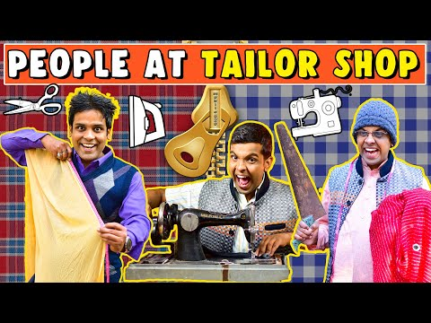 People At Tailor Shop   The Half-Ticket Shows
