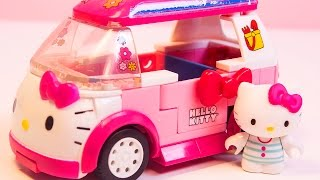 Hello Kitty Mega Bloks Hello Kitty Camper Van Caravana Lego Duplo Construction Blocks ハローキティ