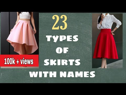 (हिंदी) 23 Different Types of skirts with their Names | Womens skirt | guide | by Nilisha | ep5