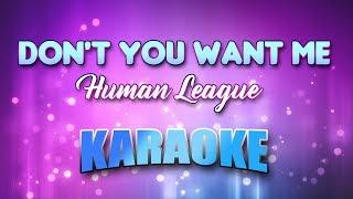 Human League - (Duet) Don't You Want Me (Karaoke & Lyrics)