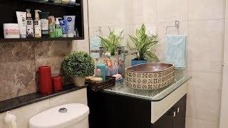 Indian Vlogger Soumali || My Small Bathroom Organization and Storage Idea