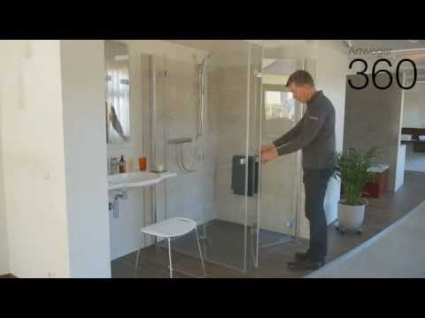 ARTWEGER 360 Falttür Dusche mit 360° TWIN Scharnier / folding door shower (english subtitles)