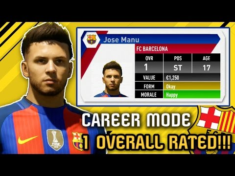 THE WORST PLAYER in Career Mode History - ONE OVERALL RATED (2016-2031) FIFA 17