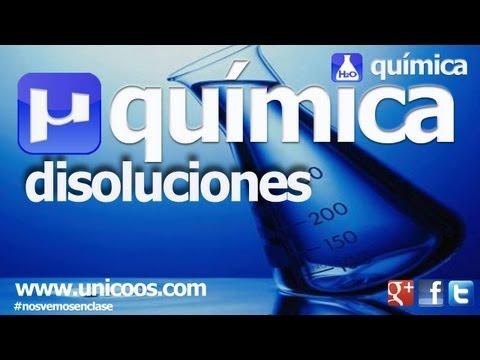 QUIMICA Disoluciones 01 1ºBACHI unicoos molaridad soluto disolucion