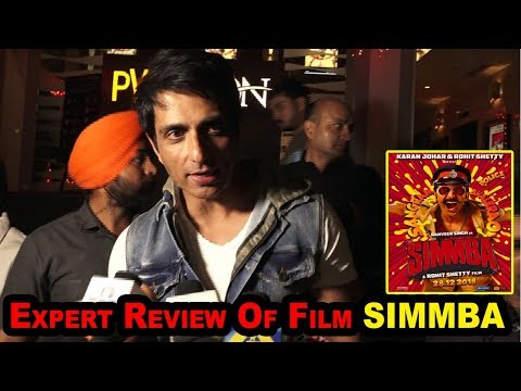 SIMMBA Review By Sonu Sood | Ranveer Singh's BEST FILM 2018