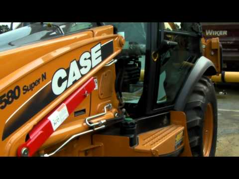 Case590 - A quick Walk around of my new machine. It has the Powershift H-type transmission, ride control, 4wd, powerlift, Front and rear quick couplers, and Air condit...