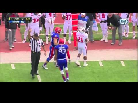 Ben Heeney vs Texas Tech 2013 video.