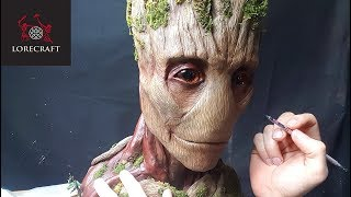 Video Sculpting Groot - Guardians of the Galaxy, Infinity War - Timelapse sculpt and airbrush MP3, 3GP, MP4, WEBM, AVI, FLV Mei 2018