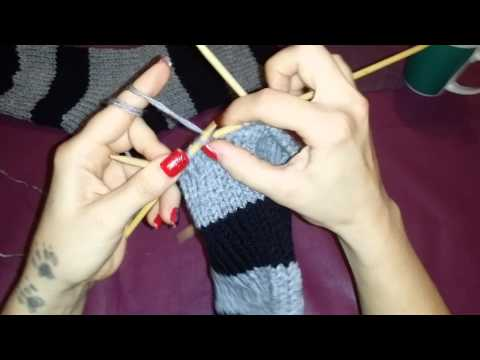 Socken stricken für anfänger teil 6