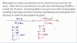 Multistage finance problem