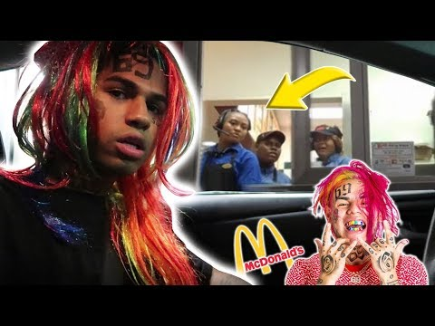 6ix9ine at the Drive Thru Prank! *HILARIOUS*