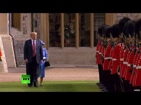 Peekaboo! Trump blocks Queen Elizabeth's way at official function