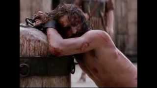 POR LAS LLAGAS DE JESÚS, MARCELA GANDARA, LETRA CON VIDEO-FRAGMENTOS DE LA PASIÓN DE CRISTO