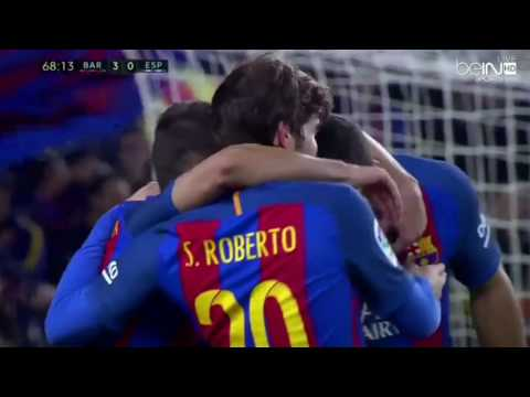 Barcelona vs Espanyol 4-1 All Goals and Highlights (720p HD)