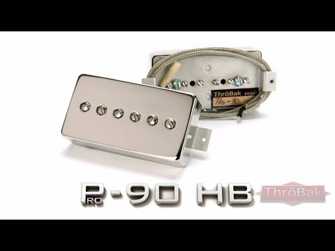 ThroBak Pro-90 humbucker sized P-90 guitar pickups with EchoSonic amp.
