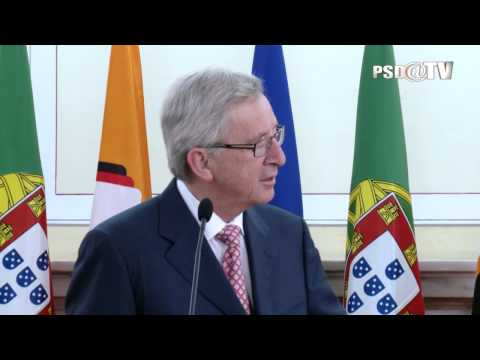 Jean-Claude Juncker na Sede Nacional do PSD