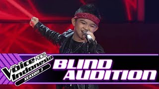 Video Moses - Welcome To The Jungle  | Blind Auditions | The Voice Kids Indonesia Season 3 GTV 2018 MP3, 3GP, MP4, WEBM, AVI, FLV Agustus 2018