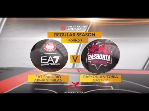 EuroLeague Highlights RS Round 7: EA7 Emporio Armani Milan 88-76 Baskonia Vitoria Gasteiz
