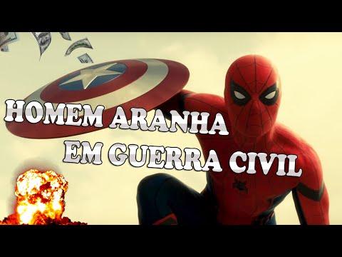 HOMEM ARANHA em Capitão América Guerra Civil!!!!!!!!!!!!!!!! OH MY GOD