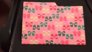 Cute mini file folder die for cards, crafts, gift cards, journals