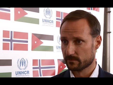 Jordan: Crown Prince Haakon Visits Syrian Refugees