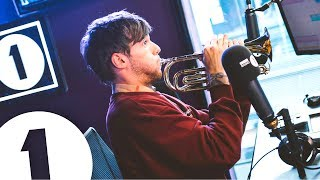 Louis Tomlinson plays trumpet and talks about an embarrassing Tobey Maguire moment, Pelé and Niall all on the BBC Radio 1 Breakfast Show with Nick Grimshaw.
