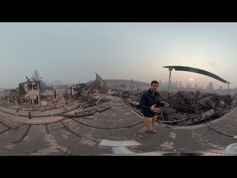 360 Video: Devastation in Paradise after Camp Fire