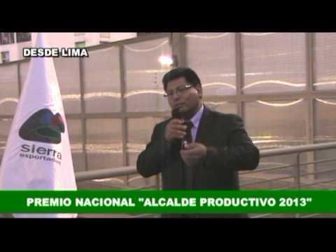 Alcalde de Ite  Premio Nacional  Alcalde Productivo