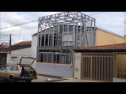 Montagem da estrutura em Steel frame em Matão - SP - 6º dia de obra
