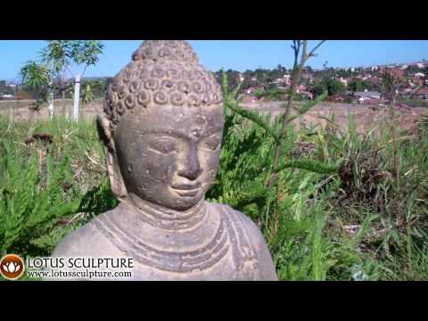 Stone Meditating Garden Buddha 12