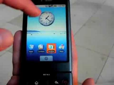 G1 - Eric from HTC (formerly of Phonescoop) gives Doug a hands-on tour of the new T-Mobile G1 Google Android phone live at the launch event in NYC. Get a first lo...