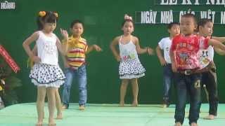 Nhảy aerobic thiếu nhi - Trường Lộc Ngãi A