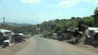 Driving to Konso town, Ethiopia